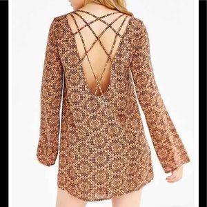 Ecote strappy back frock dress